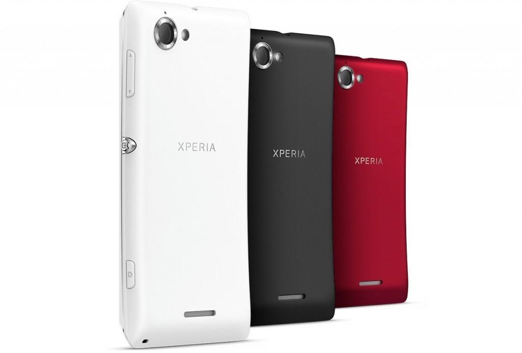 Sony Xperia L in weiß, schwarz und rot