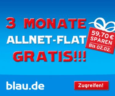 blau.de Allnet-Flat 3 Monate gratis