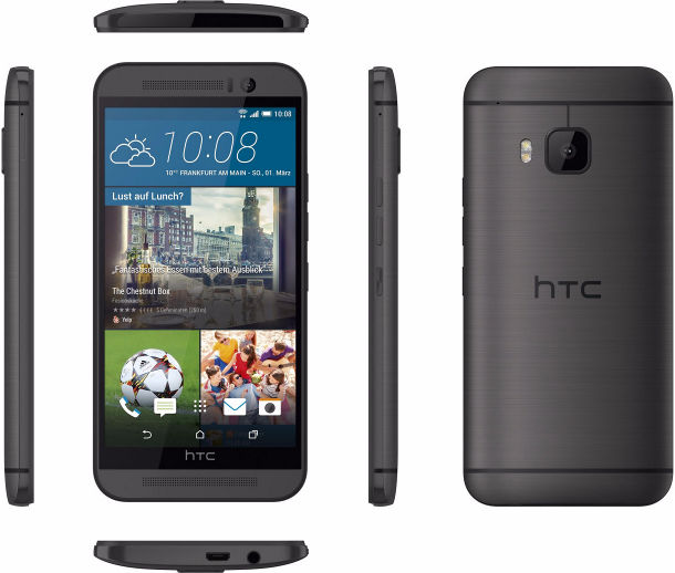 HTC One M9 grau