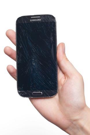 Smartphone mit Displaybruch