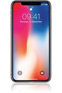 Iphone x grau vorne